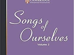 CIE IGCSE English Literature: Poetry - Songs of Ourselves PowerPoint Analysis