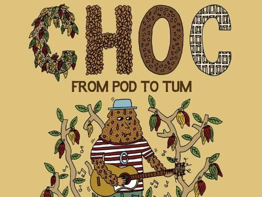 Choc; a picture book about where chocolate comes from and how it is made