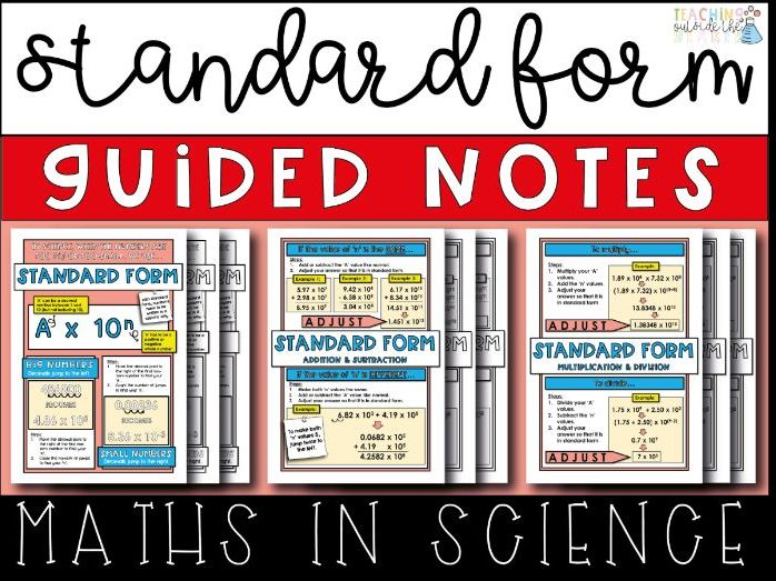 Standard Form Guided Notes - Math Skills In Science