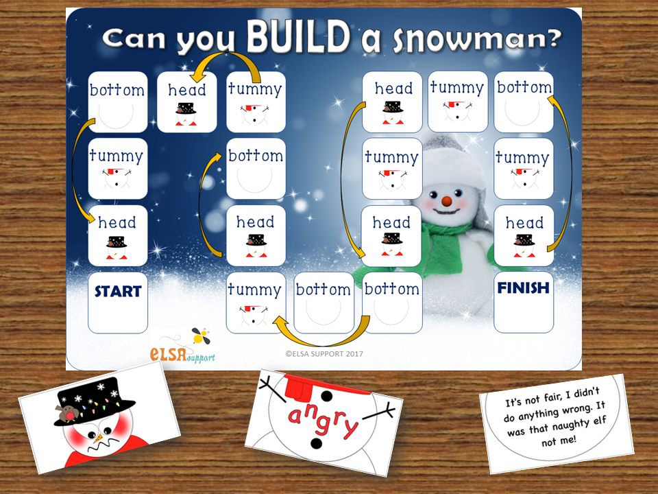 Emotional literacy/ emotional intelligence - Build a Snowman Christmas activity