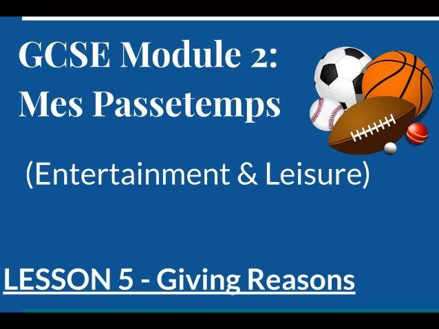 Passetemps GCSE Lockdown Lesson Giving Reasons