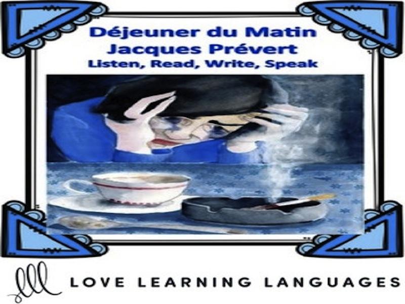 GCSE FRENCH: French Poetry Lesson: DÉJEUNER DU MATIN, Jacques Prévert