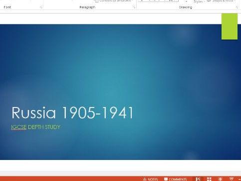 iGCSE Russia (1905-1941) Depth Study Powerpoint