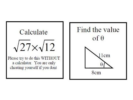 Fun revision activity for GCSE maths 2