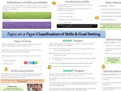 AQA GCSE PE (9-1) Sport Psychology (3.2.1) Classification of Skills - Topic on a Page