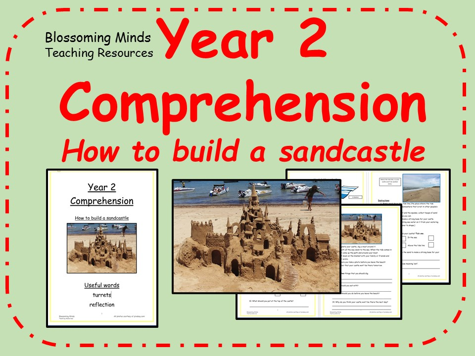Year 2 comprehension - How to build a sancastle (seaside)