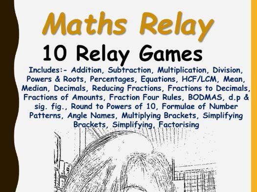 Maths Relay Games