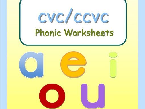 CVC/CCVC Words Phonic worksheets