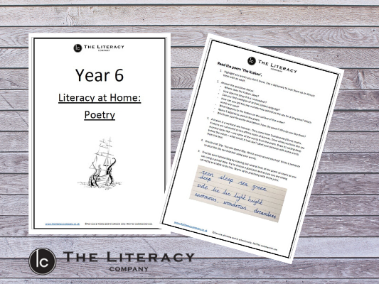 Year 6 - Literacy Learning from Home: Poetry