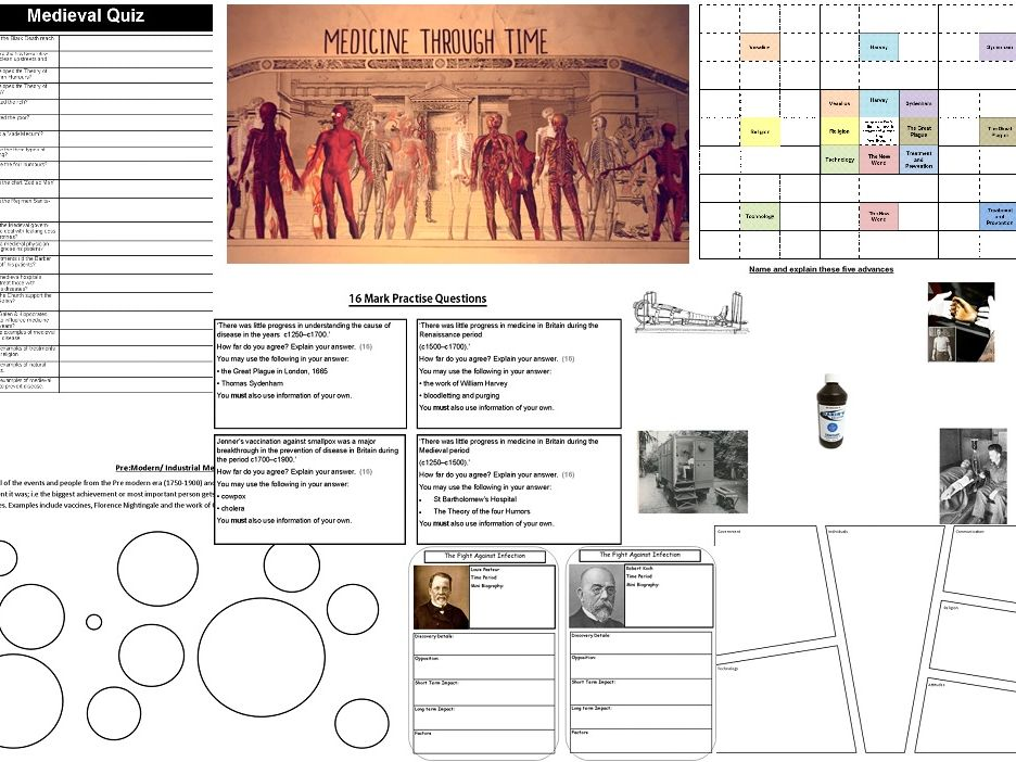 Medicine Through Time revision activity book