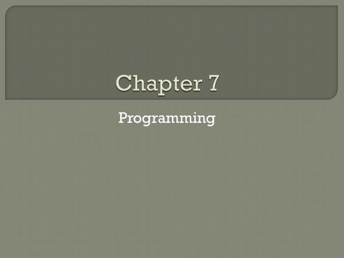 GCSE Computing: Chapter 7 - Programming (Revision)