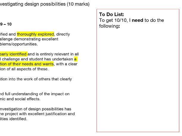 AQA GCSE DT 9-1 Assessment Criteria Breakdown