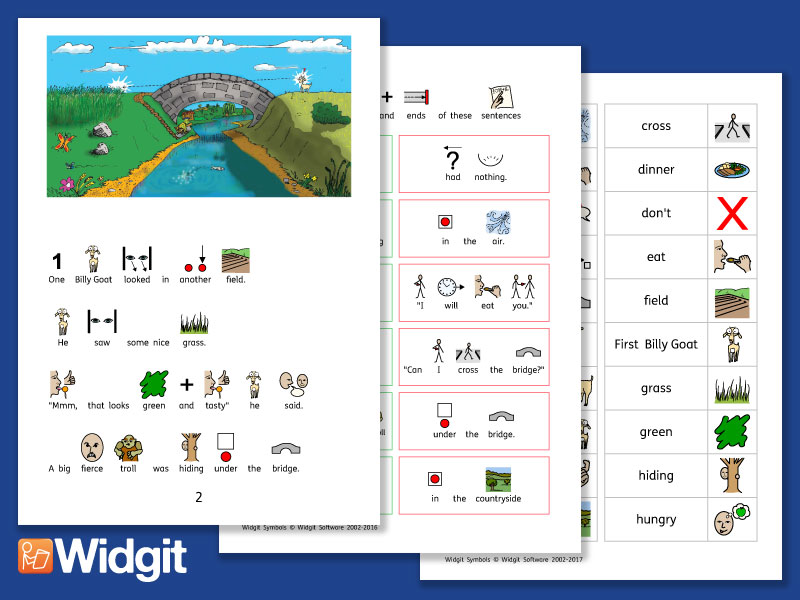 Three Billy Goats Gruff - Story Pack with Widgit Symbols