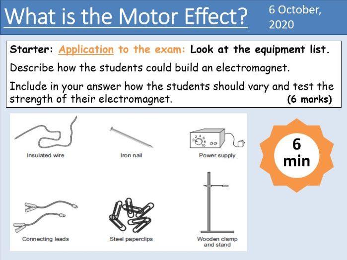 GCSE Physics - The Motor Effect - Unit 7.2.2 (AQA 9-1)