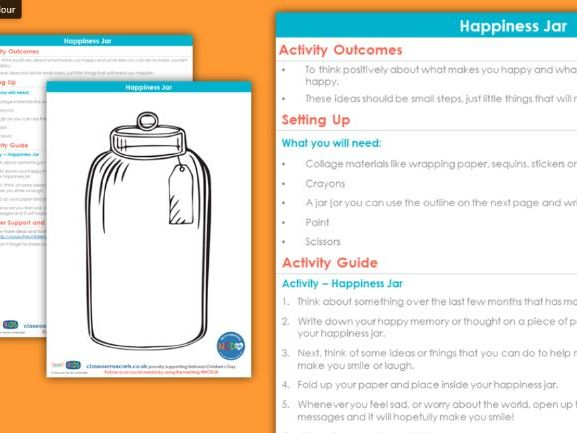 Free Pshe Happiness In A Jar Activity National Children S Day Teaching Resources