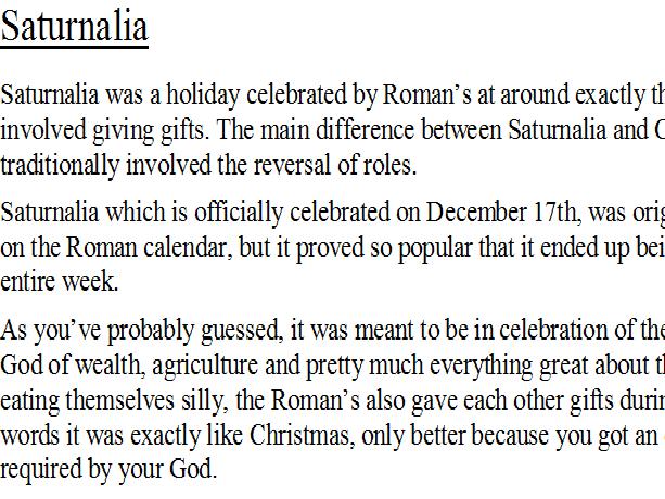 Saturnalia facts sheet