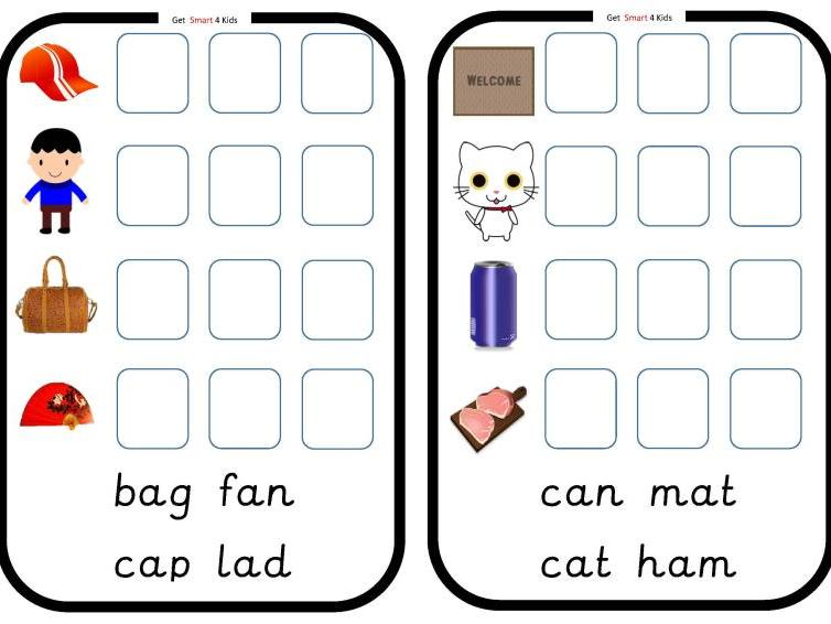 Read and Write cvc Words (Medial Vowel a)