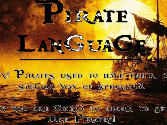 Pirate Language