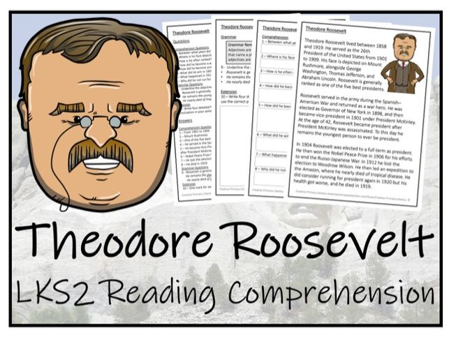 LKS2 Theodore Roosevelt Reading Comprehension Activity