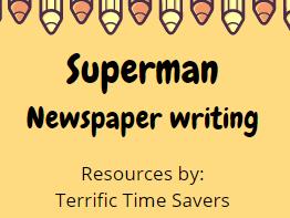 Superman Newspaper Writing