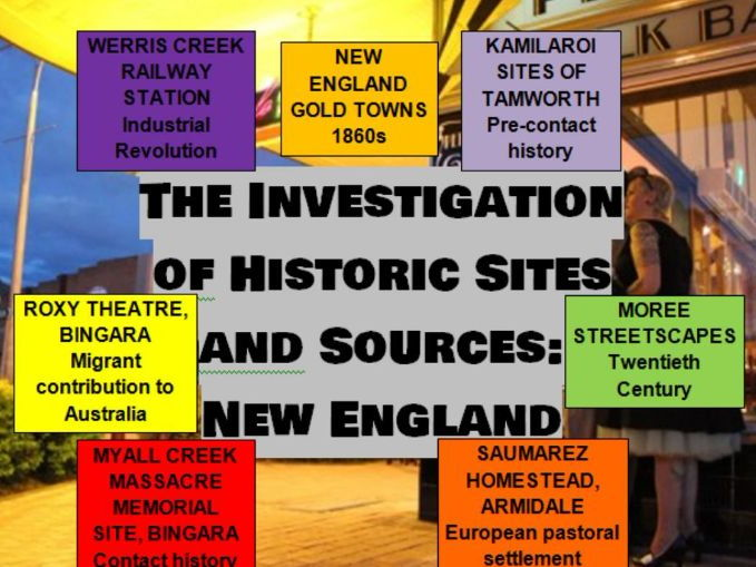 The Investigation of Historical Sites and Sources: New England