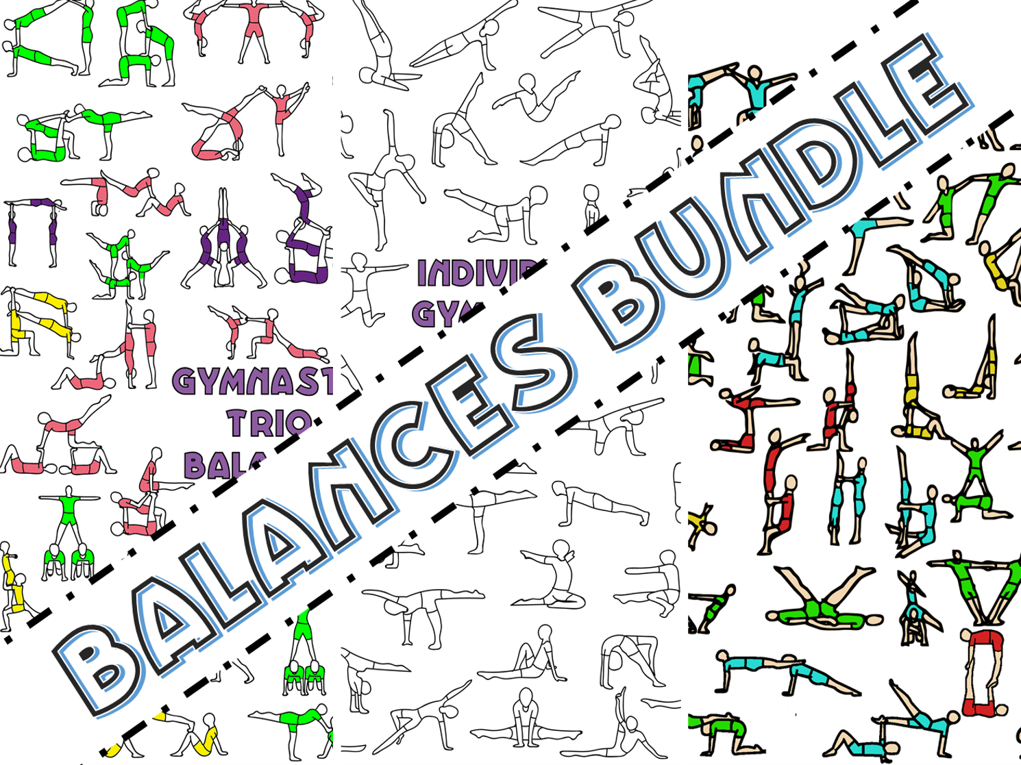 Gymnastics individual, pair and group balances resource