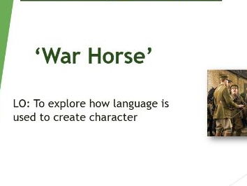 'War Horse' - character analysis lesson