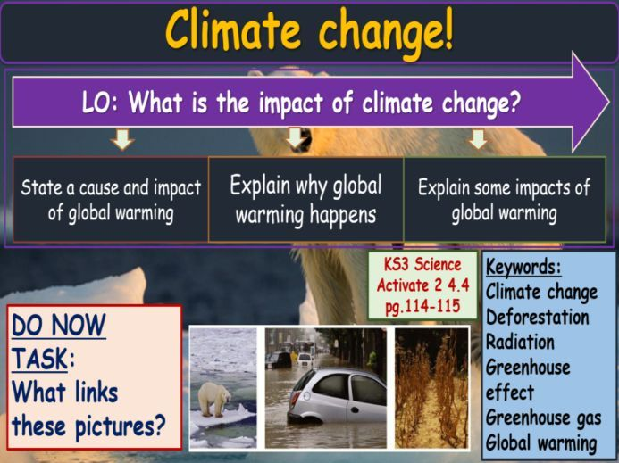 Climate change KS3 Activate Science