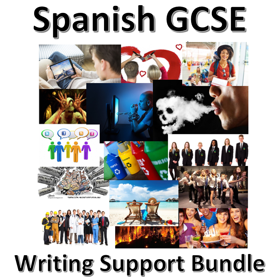 New Spanish GCSE - Writing support bundle.