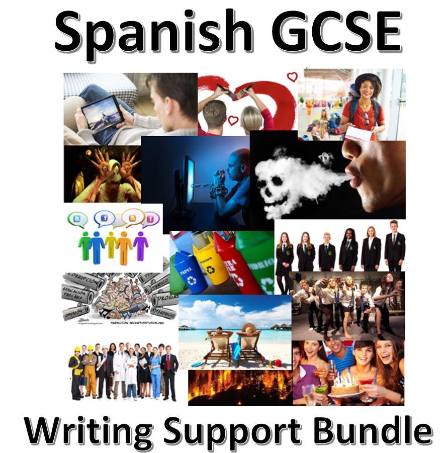 New Spanish GCSE - Writing support bundle.