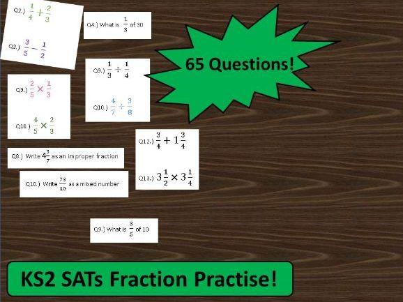 KS2 Fractions Mega-worksheet