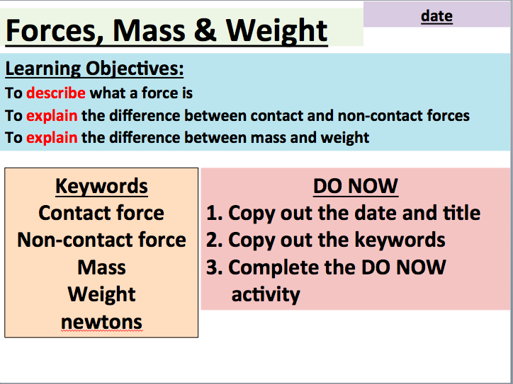 GCSE Combined Science: Forces, Mass and Weight (AQA)