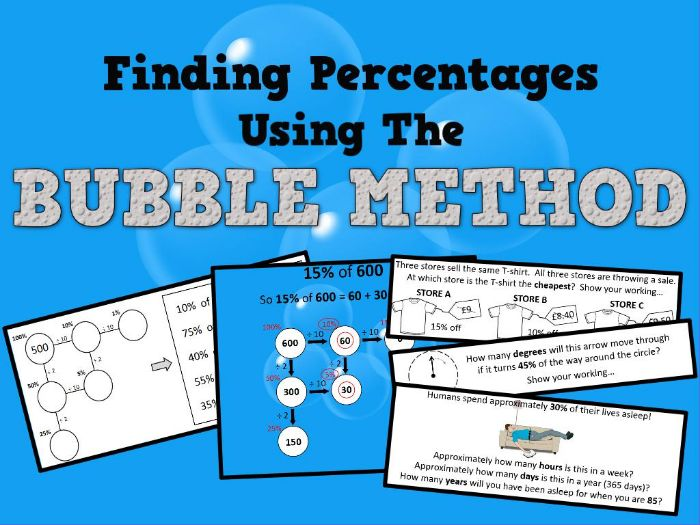Finding Percentages Using The Bubble Method