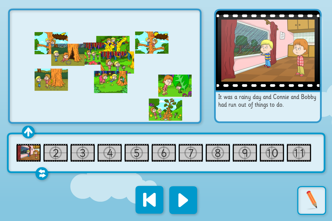 The Wizard's Assistant Sequence and Retell Interactive Activity - KS1 Literacy