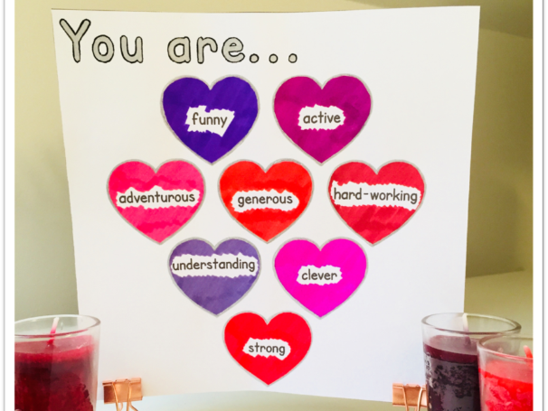 Make your own personalised Valentine's Day card (English)