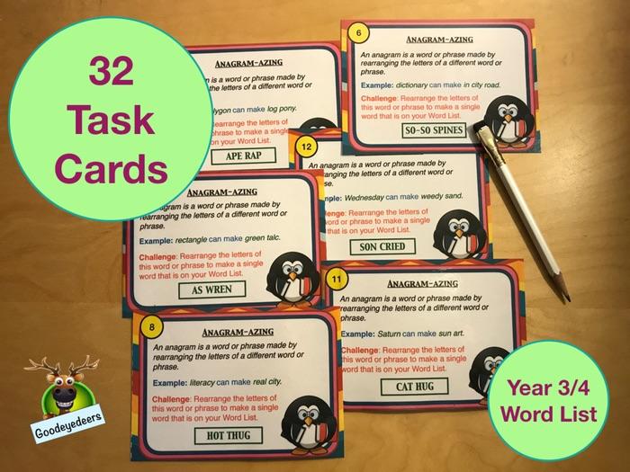 Spelling Cards - Years 3/4 Word List (Set 2)