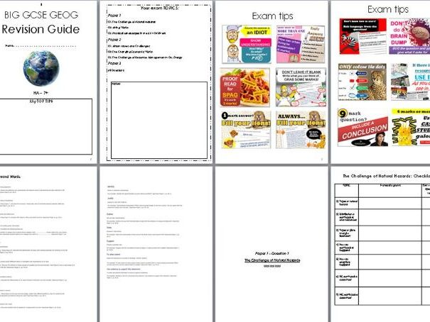 Geography Revision Pack GCSE AQA 9 -1