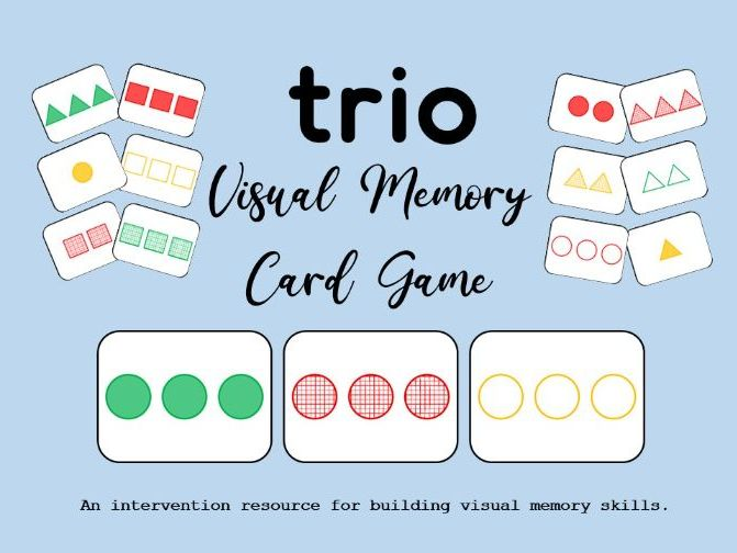 TRIO Shape Matching Visual Memory Game