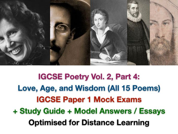 Songs of Ourselves Vol. 2 Part 4 - IGCSE Exam Questions + Assessments + ANSWERS