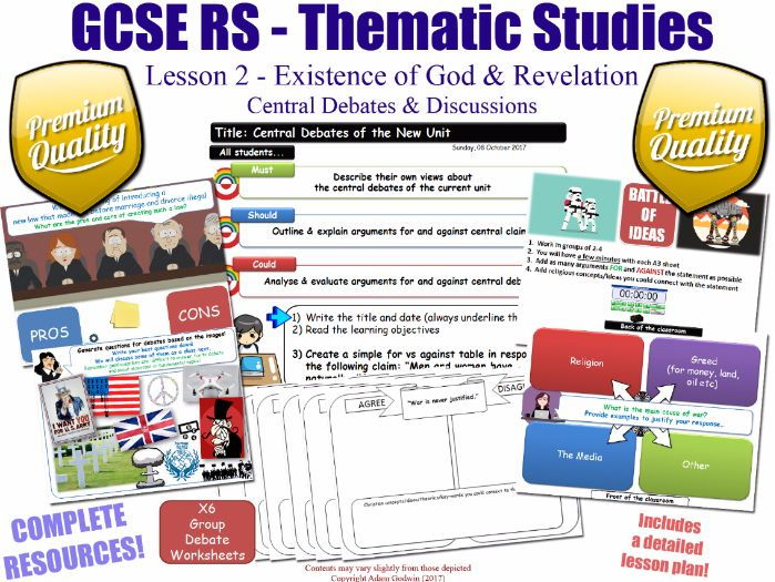 Existence of God & Revelation - L2/10 [GCSE RS - Thematic Studies - Christian Views]