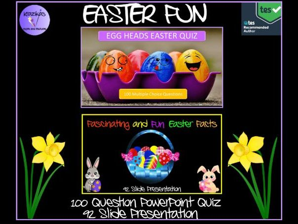 Easter Quiz and Fascinating and Fun Easter Facts Presentation - Two Resources for the Price of 1!