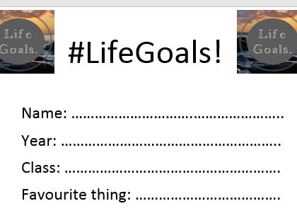 Life Goals! A motivational and interactive workbook