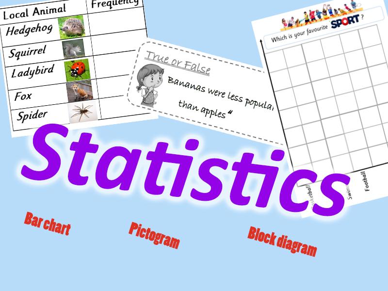 Year 2 Statistics - Block Diagram, Pictogram and Bar Chart
