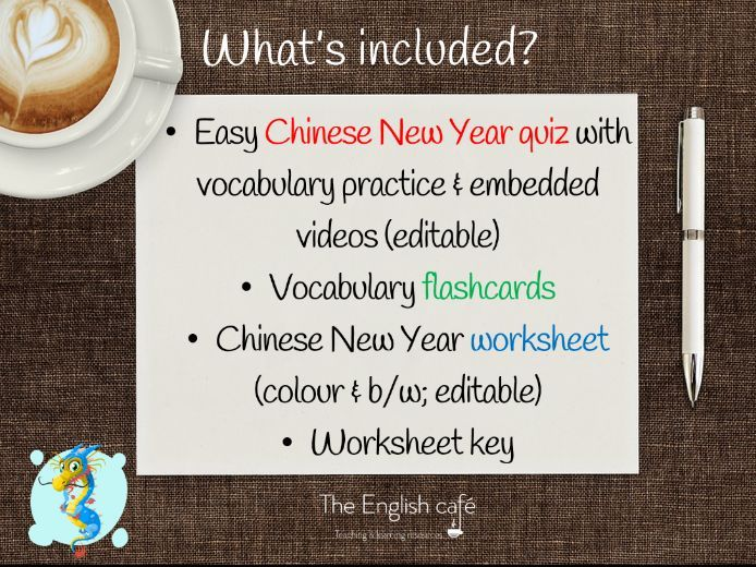 Chinese New Year quiz (easy language)