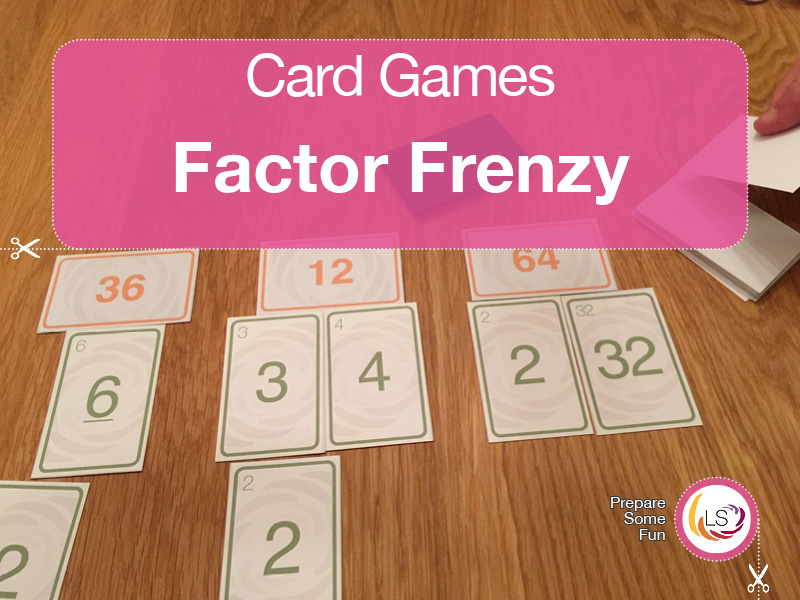 Factors Frenzy | Multiples Card Game