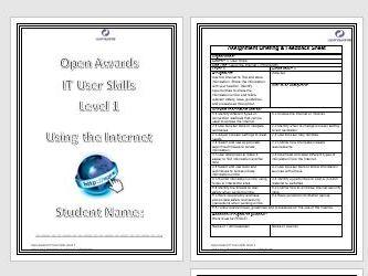 Internet Unit (Open Awards IT User Skills) Level 1