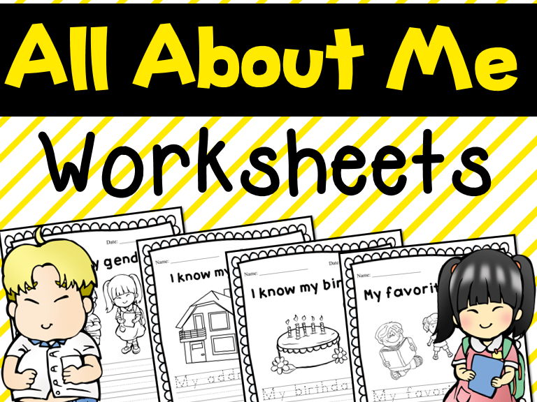 All About Me - Back to School - Editable