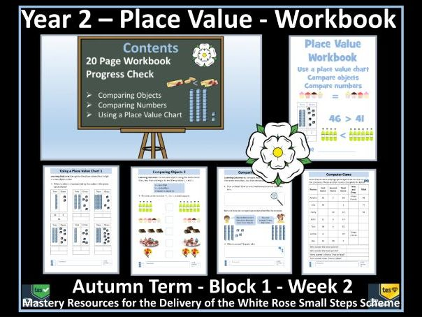 Place Value: Year 2 - Autumn Term - Week 2 - Maths'  Workbook  For Delivery of White Rose Scheme