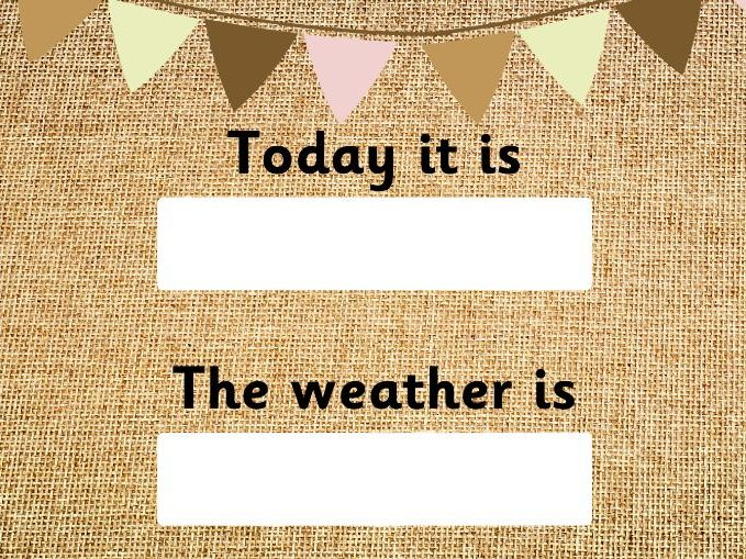 Days of the Week and Weather Pack - Hessian Background