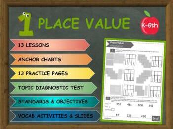 PLACE VALUE: Quizzes, Lessons, Practice & Vocabulary **FREEBIE**